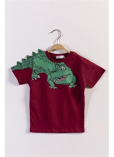 Toontoy Kids Toontoy Erkek Çocuk Timsah Baskılı Tişört Bordo